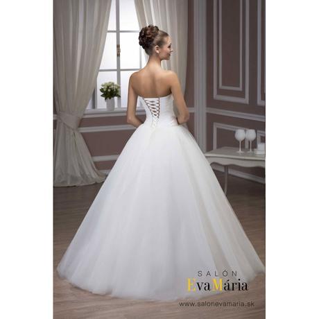 Svadobné šaty s nadýchanou sukňou - na mieru, 38