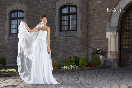 Svadobné šaty s opaskom , 38