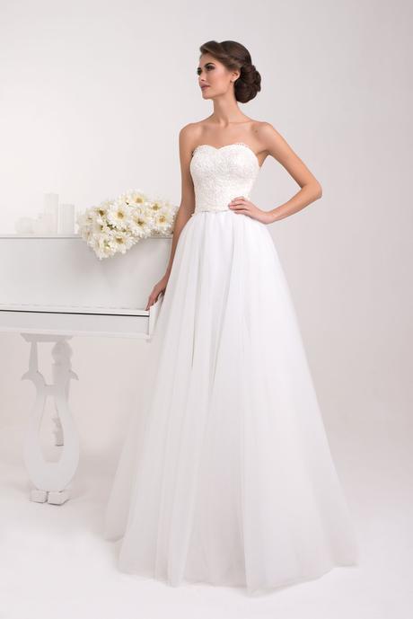 Svadobné šaty s princeznovskou sukňou - na mieru, 40