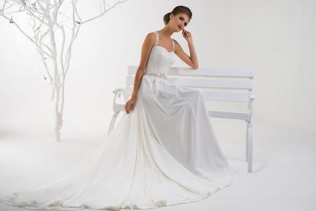 Svadobné šaty s ramienkami - na mieru, 36