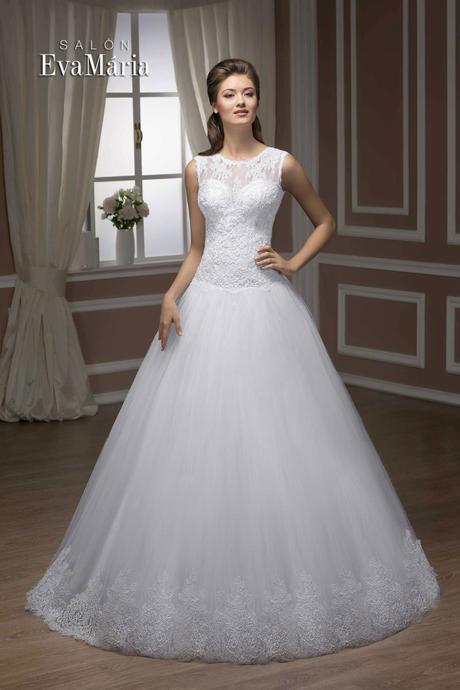 Svadobné šaty s tylovou sukňou - na mieru , 36