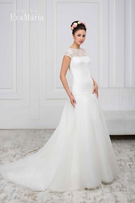 Svadobné šaty s vlečkou - real foto - na mieru, 36