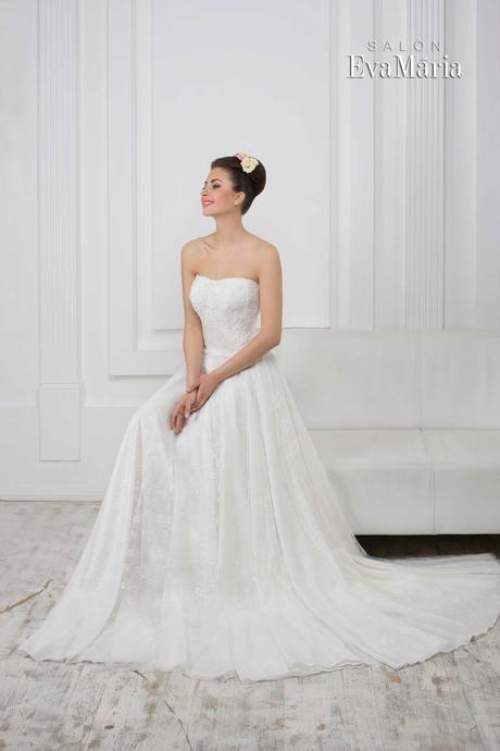 Svadobné šaty s vlečkou - real foto - na mieru, 38