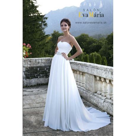 Svadobné šaty s vlečkou - real foto - na mieru, 40