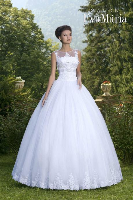 Svadobné šaty so širokou sukňou, 36