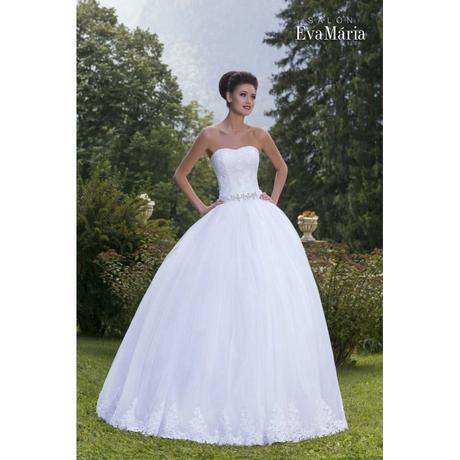 Svadobné šaty so širokou sukňou - na mieru, 36