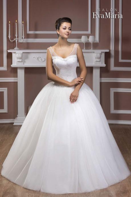 Svadobné šaty so širokou sukňou - na mieru, 38