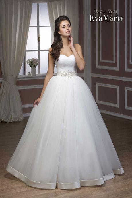 Svadobné šaty so širokou tylovou sukňou - na mieru, 36