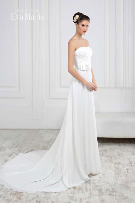 Svadobné šaty so stuhou - real foto - na mieru, 36