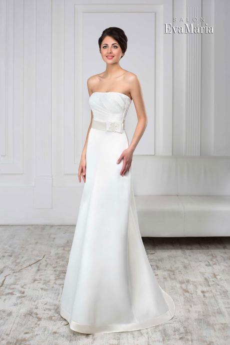Svadobné šaty zdobené stuhou - na mieru, 36