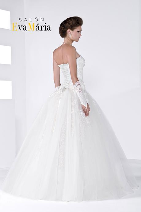 Značkové svadobné šaty - real foto - na mieru, 40
