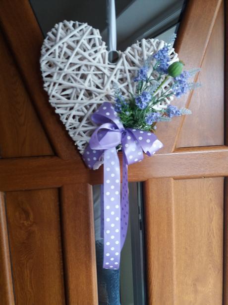 svadobné srdce na dvere,