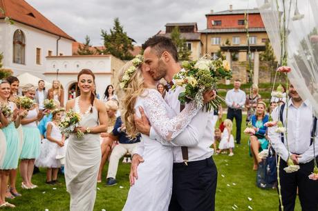 """Svatební krajkové šaty """" vintage style"""", 38"""