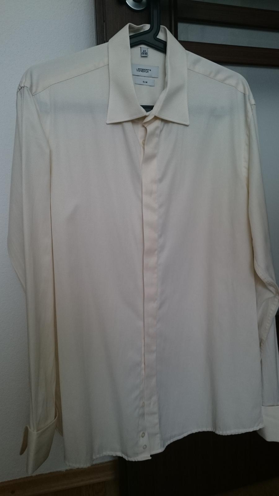 24807c13c16e Svadobná slimfit košeľa ozeta (176-185 cm)