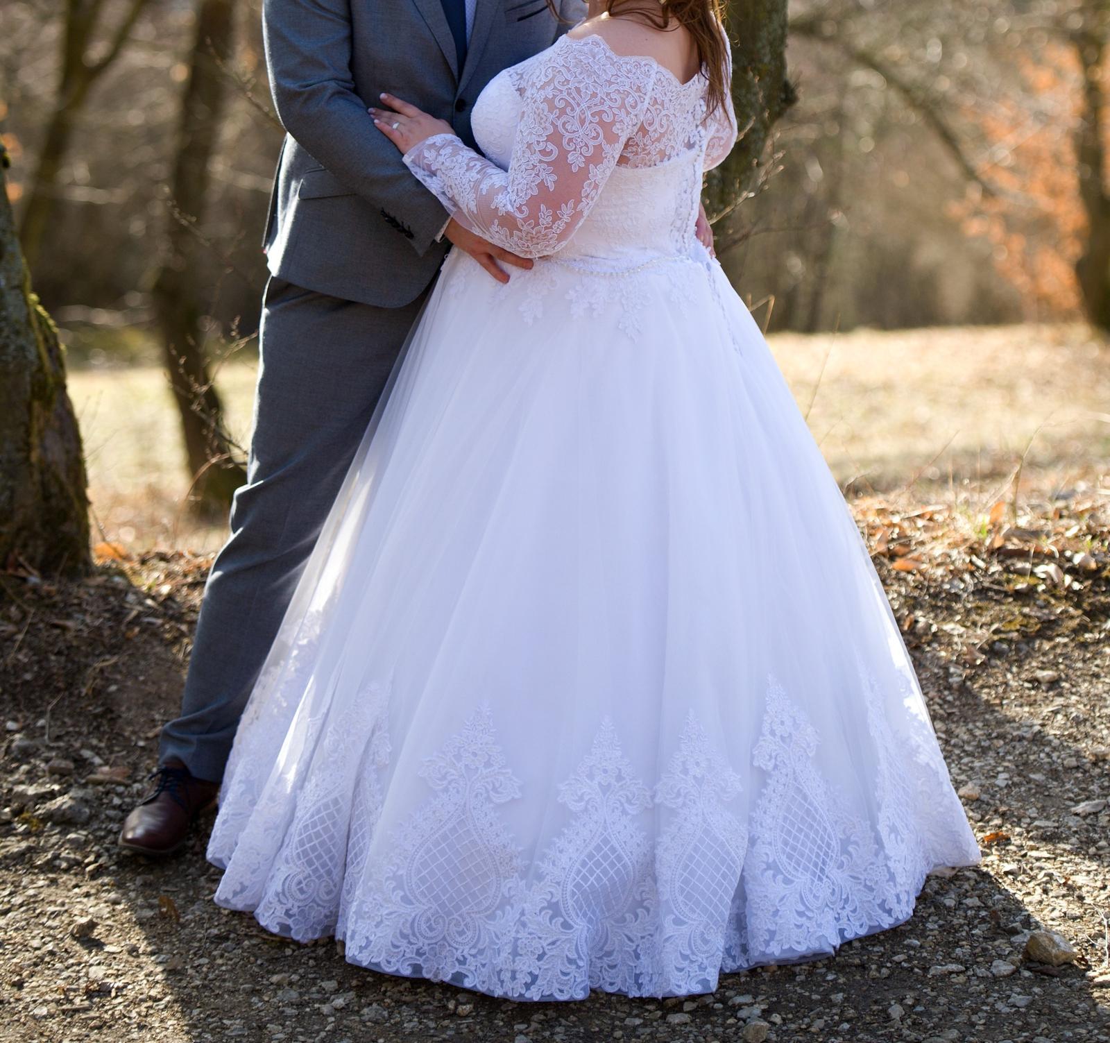 ee4afabed6c7 Snehobiele svadobné šaty