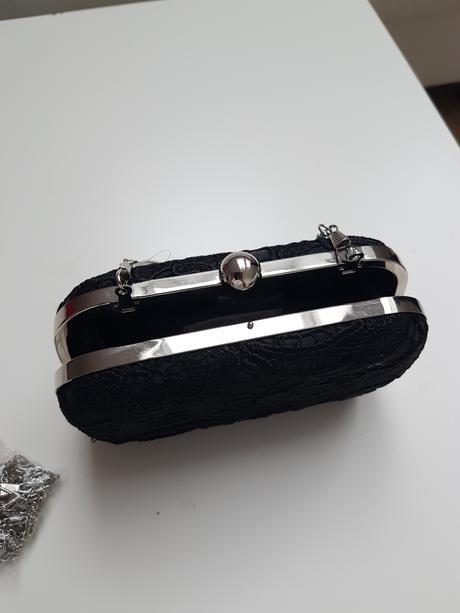 Cierna krajkova kabelka, XS