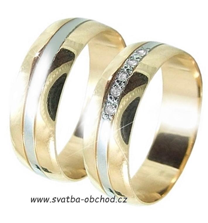 Snubni Prsten B79 Zlato Zlute Bile 7 165 Kc Svatebni Shopy