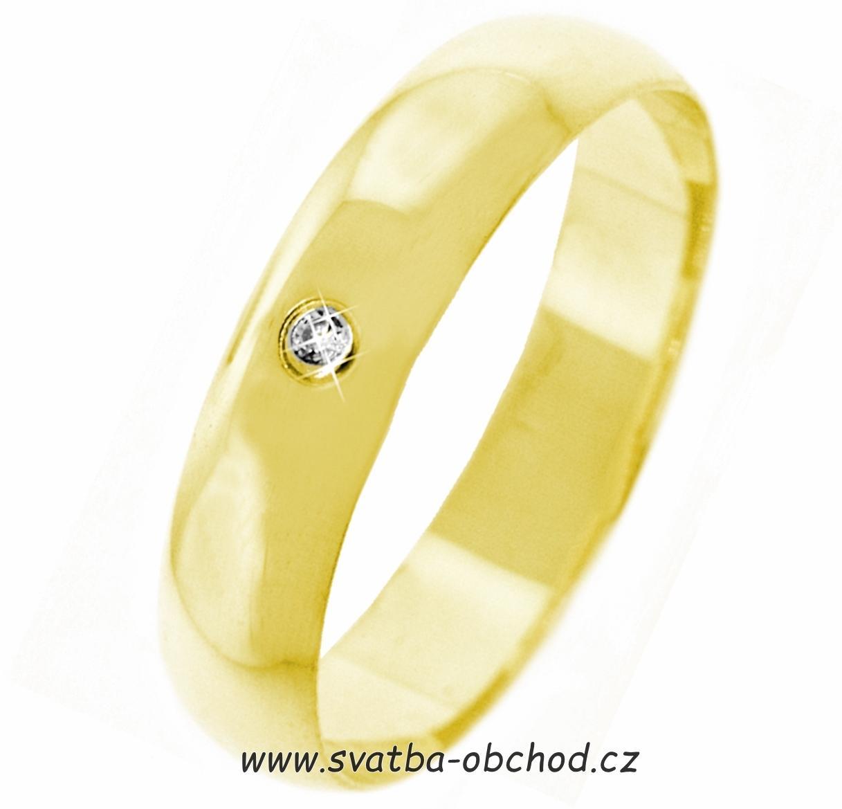 622c12871 Snubní prsten k1 - žluté zlato + 1x zirkon, - 6 060 Kč | Svatební shopy |  Beremese.cz