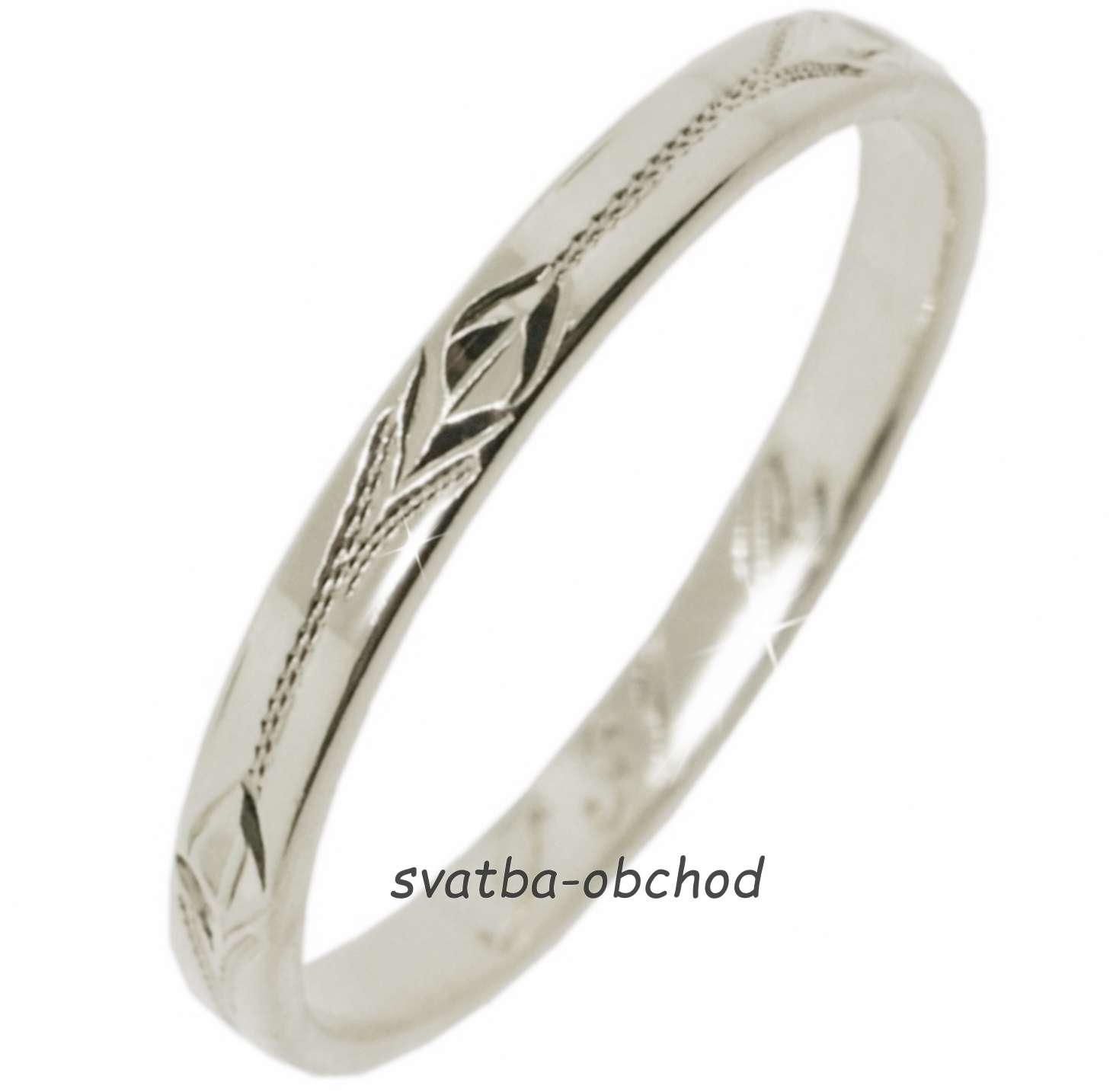 21ce5305c Snubní prsten s31r - bílé zlato, - 3 995 Kč | Svatební shopy | Beremese.cz