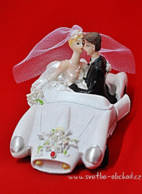 Autíčko svatební na dort (č.78),