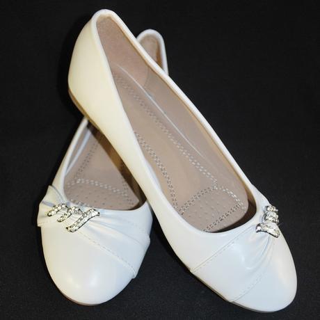 Balerínky svatební 16 bílé, 36