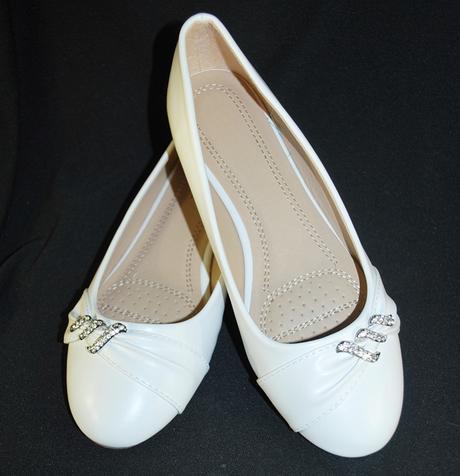 Balerínky svatební 16 bílé, 39