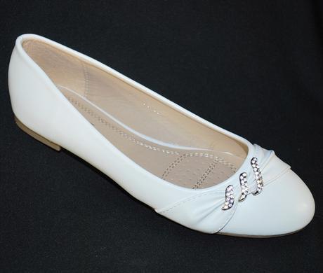 Balerínky svatební 16 bílé, 41