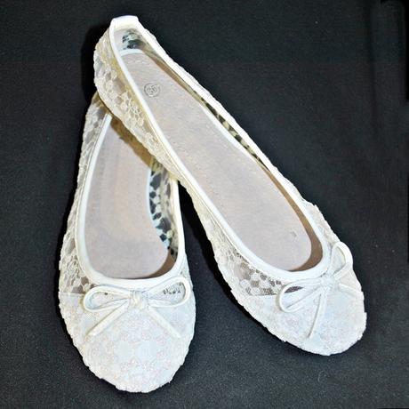 Balerínky svatební 30 bílé, 37