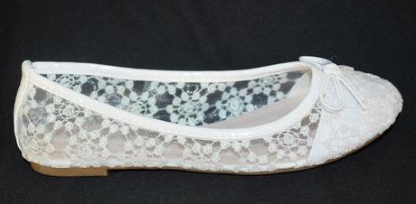 Balerínky svatební 30 bílé, 38