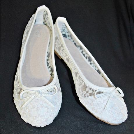 Balerínky svatební 30 bílé, 40