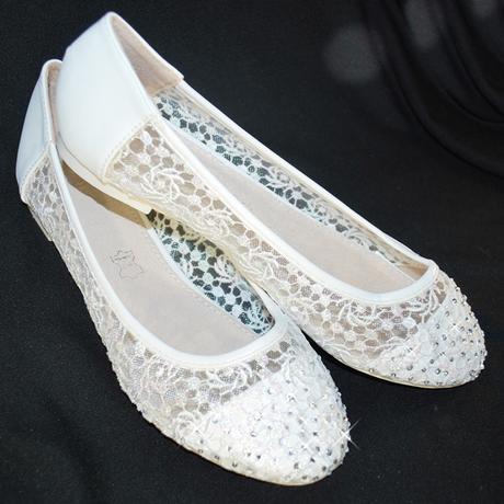 Balerínky svatební 31 bílé, 37