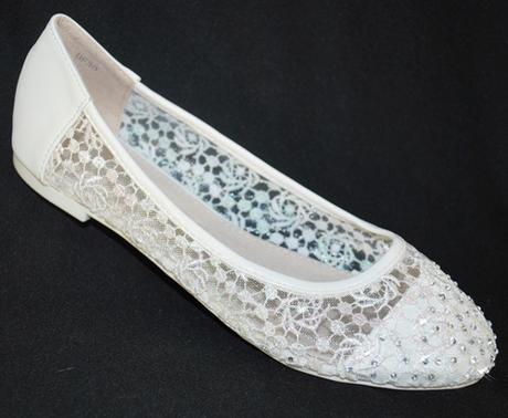 Balerínky svatební 31 bílé, 38