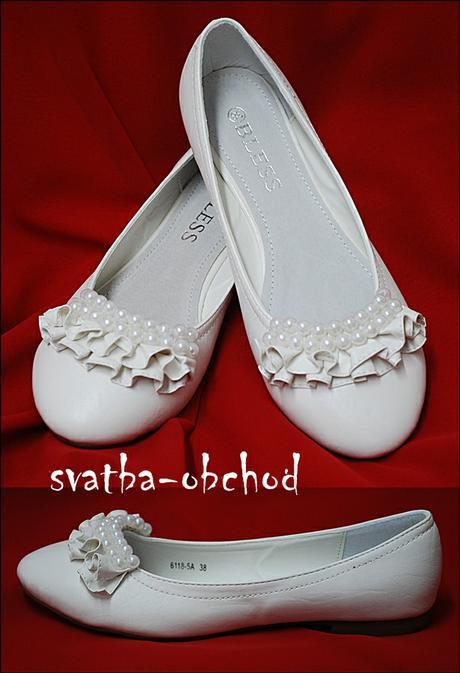 Balerínky svatební (č.06) s perličkami , 36