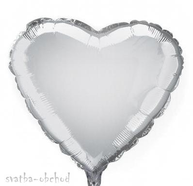 Balónek foliový stříbrný,