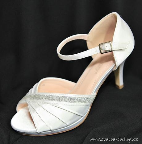 Bílé saténové botičky, 36