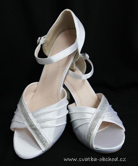 Bílé saténové botičky, 38