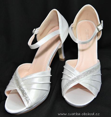 Bílé saténové botičky, 40