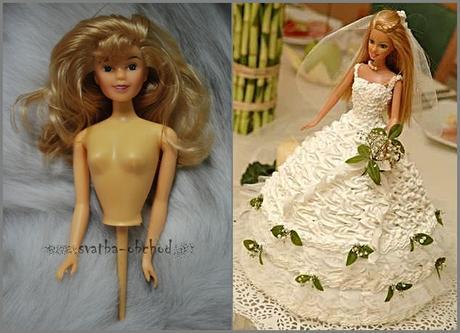 Blond panenka do dortu - velká,