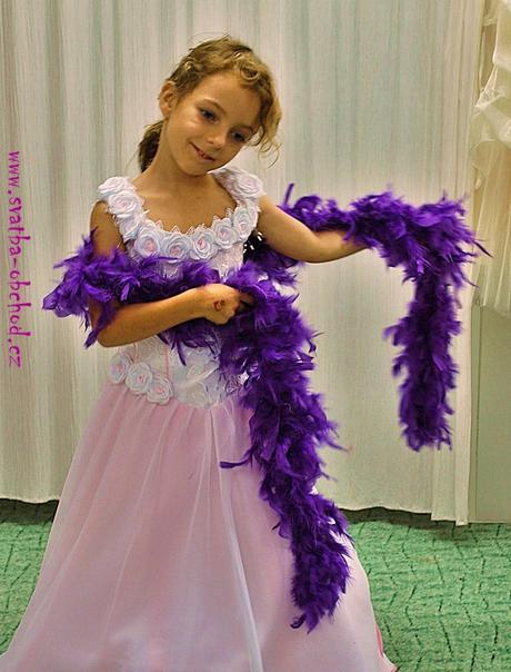 Boa ve fialové barvě (pravé peříčka),