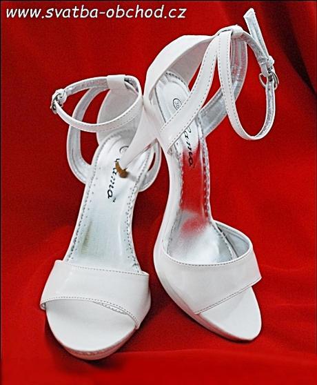 Boty svatební bílé (č. 07), 40