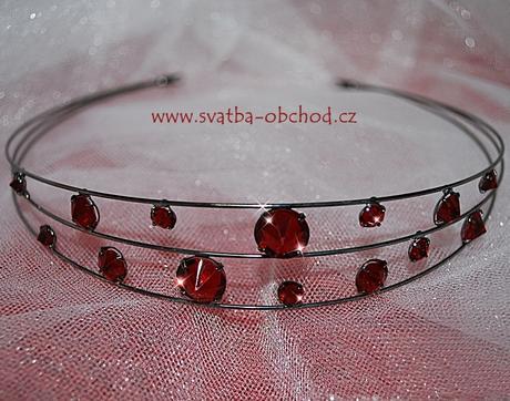 Čelenka - rudé kamínky (č. c60),