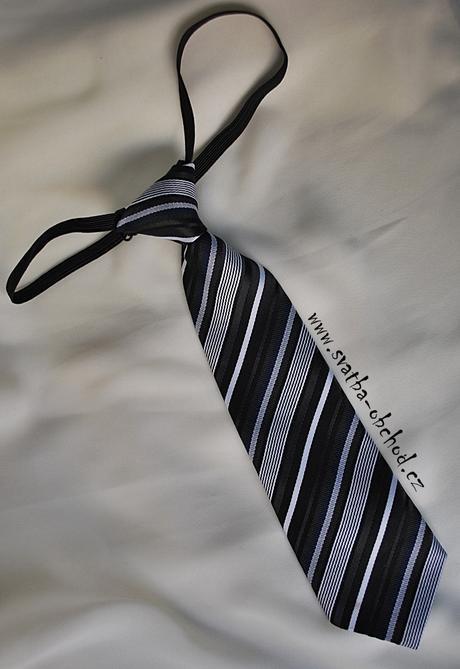 Černo - bílá kravata (č. 24),