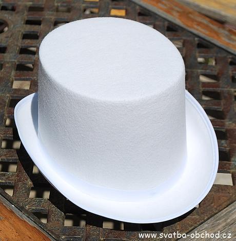 Cylindr filcový bílý,
