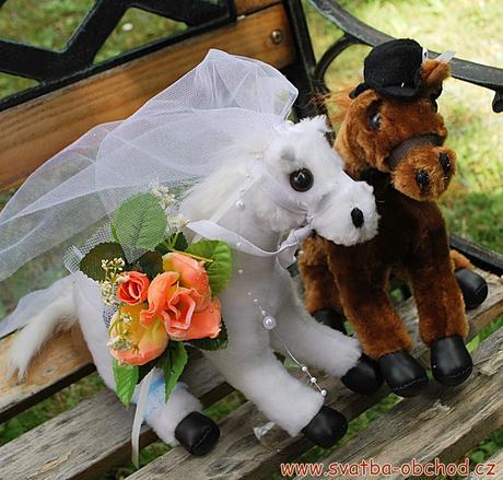 Dva koníčci na svatební auto,