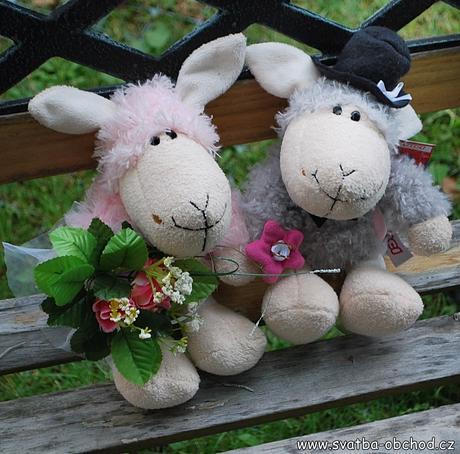 Dvě ovečky na auto (č. 01),