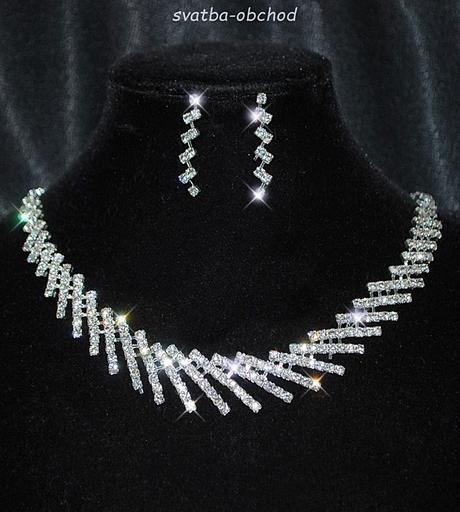 Jemný náhrdelník + náušničky (č. 069),