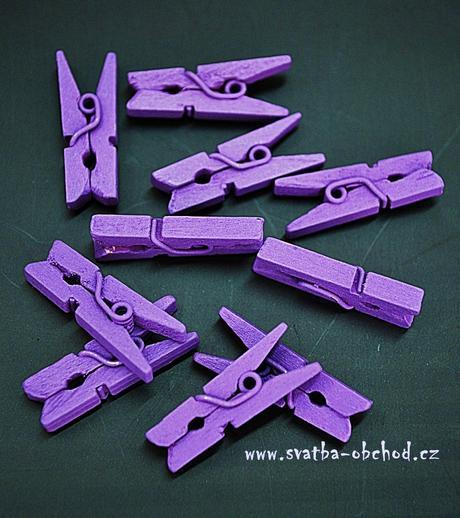 Kolíček fialový - mini (č.15),