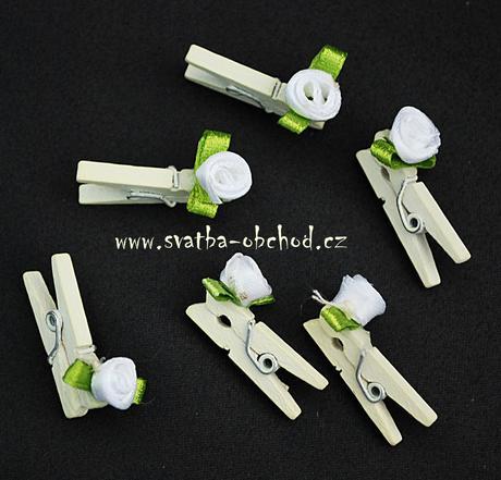 Kolíček šampáň s růžičkou (č.02),
