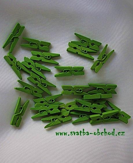 Kolíček zelený - mini (č.16),