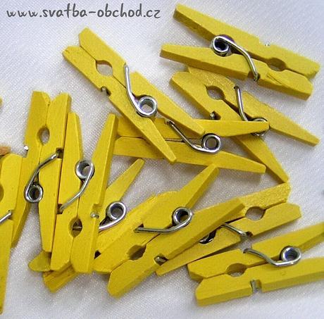Kolíček žlutý - mini (č.03),
